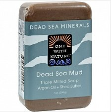 Buy One With Nature Dead Sea Mineral Dead Sea Mud Soap, Natural,