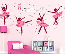 Buy dancing girl ballet children wall sticker