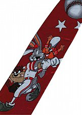 Buy JTI Bugs Bunny Looney Tunes Baseball With Taz Yosemite Sam RED Novelty Neck Tie