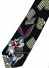 Buy JTI Bugs Bunny Looney Tunes Guitar Musical Instrument Notes Novelty Neck Tie