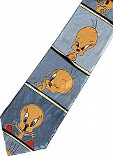 Buy JTI Tweety Bird Looney Tunes Emotional Face SILVER Novelty Necktie