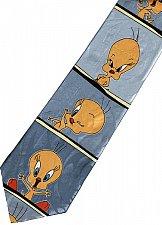 Buy JTI Tweety Bird Looney Tunes Emotional Face SILVER Novelty Necktie