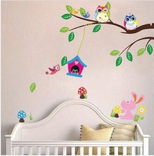 Buy owl animals home decor wall sticker