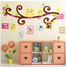 Buy owl photo frame home decor wall sticker