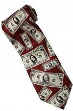 Buy JTI Money USA United States Banknote RED Fancy Novelty Neck Tie