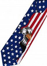 Buy JTI Patriotic American Flag Eagle #2 BLUE Novelty Necktie