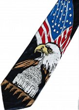 Buy JTI Patriotic American Flag Eagle White House Dark Blue Novelty Necktie