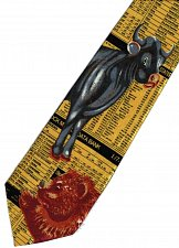 Buy JTI Stock Market Index Share Bear Cow Occupation YELLOW Novelty Necktie