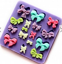 Buy fashion bowknot food silicone mold