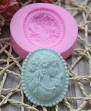 Buy fashion women cake silicone mold