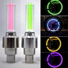 Buy Lights Install at Bicycle Wheel Tire Valve's Bike LED Bike Light New Bicycle
