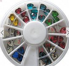 Buy 1 box wheel nail art decoration