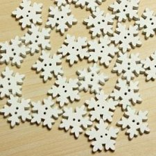 Buy 50pcs white wooden buttons