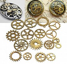 Buy 17pcs gears parts diy jewelry pendant charms