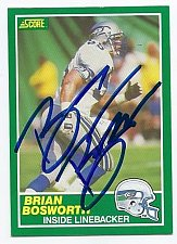Buy Nfl BRIAN BOSWORTH SEATTLE SEAHAWKS SuperStar Nfl Collectors Card Mnt