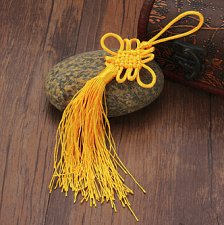 Buy 10pcs feng shui knot decoration party supplies yellow