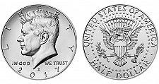 Buy 2017 D John Kennedy Half JFK Dollar - Uncirculated From Mint Roll