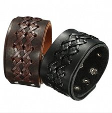 Buy 1pc punk pu leather wrist band bracelet