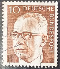 Buy Stamp Germany 1970 Gustav Heinemann 10 Pfg Pair