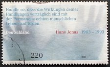 Buy Stamp Germany 2003 The 100th Anniversary of the Birth of Hans Jonas, 1903-1993 2.20 E