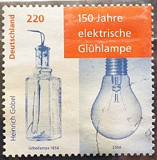 Buy Stamp Germany 2004 The 150th Anniversary of the Electric Light Bulb 2.20 Euro