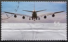 Buy Stamp Germany 2008 Aircrafts Metropolitan area-traffic airplane airbus A380 (2005) 0.