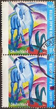 "Buy Stamp Germany 2012 The 100th Anniversary of ""The Blue Rider"" 1.45 Euro Pair"