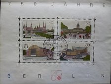 Buy Stamp Germany Berlin 1987 750 years Berlin Miniature Sheet 40, 50. 60 & 80 Pfg