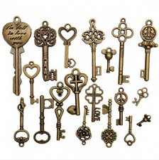 Buy 19pcs key diy jewelry charm pendants