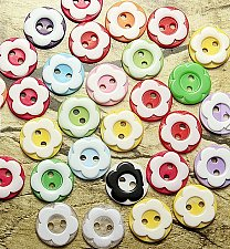 Buy 60pcs resin buttons sewing accessories