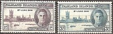 Buy Falkland Islands: Scott number 97-98 (1946) MNH Complete Set