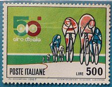 Buy Stamp Italy 1967 The 50th Anniversary of Giro d'Italia 500 Lire