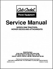 Buy Cub Cadet 2130 2135 2140 2145 2160 2165 2185 Mower Tractors Service Manual CD