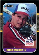 Buy Greg Walker 1987 Donruss Baseball Card Chicago White Sox
