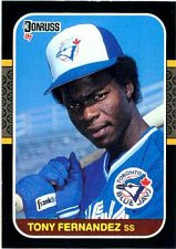 Buy Tony Fernandez 1987 Donruss Baseball Card Toronto Blue Jays