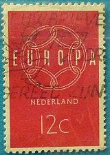 Buy Stamp Netherlands 1959 EUROPA Stamps 12c