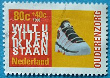 Buy Stamp Netherlands 1998 Sport shoe Charity stamps 80+40 c