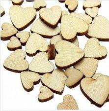 Buy 60pcs wooden heart diy scrapbooking