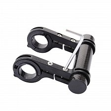 Buy Front Light Extender Mount Bracket Double Bike Bicycle Flashlight Holder Handle Bar
