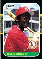Buy Willie McGee 1987 Donruss Baseball Card St. Louis Cardinals
