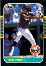 Buy Jose Cruz 1987 Donruss Baseball Card Houston Astros