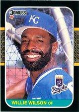 Buy Willie Wilson 1987 Donruss Baseball Card Kansas City Royals