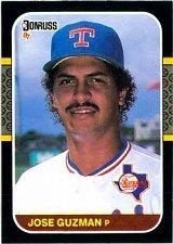 Buy Jose Guzman 1987 Donruss Baseball Card Texas Rangers