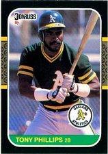 Buy Tony Phillips 1987 Donruss Baseball Card Oakland Athletics