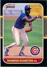 Buy Shawon Dunston 1987 Donruss Baseball Card Chicago Cubs