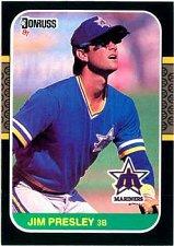 Buy Jim Presley 1987 Donruss Baseball Card Seattle Mariners