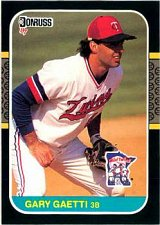 Buy Gary Gaetti 1987 Donruss Baseball Card Minnesota Twins