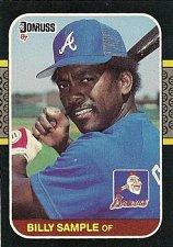 Buy Billy Sample 1987 Donruss Baseball Card Atlanta Braves