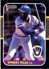 Buy Ernest Riles 1987 Donruss Baseball Card Milwaukee Brewers