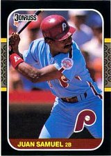 Buy Jaun Samuel 1987 Donruss Baseball Card Philadelphia Phillies